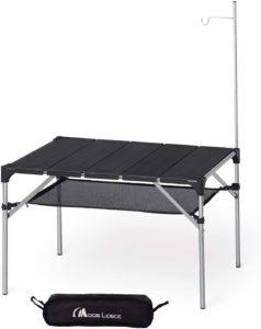Moon Lence キャンプ テーブル アルミ ロールテーブル アウトドア ハイキング BBQ 折りたたみ式 コンパクト 超軽量… | MOON LENCE | テーブル