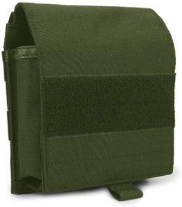 PHOENIX IKKI 地図 書類収納 Molleモールシステム対応 ミリタリー 軍事的 戦術 マップポーチ マップケース タクティカルギア 自衛隊装備 図納 11色対応 グリーン: シューズ&バッグ