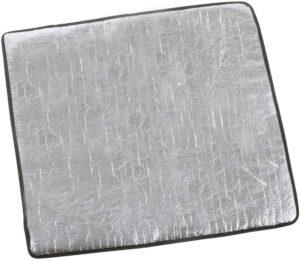 ヨーラー(YOLER) バーナーシート 耐炎繊維製 輻射熱をカット テーブルを保護 ガスコンロアクセサリー キャンプ用品 専用収納バッグ付 (S 30×32cm, シルバー) | YOLER | コンロアクセサリー