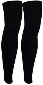 YUANSHOP1 レッグカバー サイクル 2枚セット レッグスリーブ 二ーサポーター ふくらはぎ サポーター 膝サポーター レッグウォーマー 登山/アウトドア/スポーツ/自転車/バスケ/ランニング UVカット 日焼け防止 吸汗速乾 滑り止め 高弾力 通気性 スーパーロング(ブラック、M): スポーツ&アウトドア