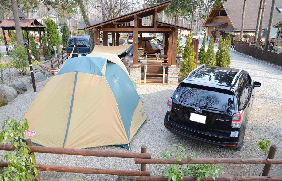 テント設営スペース : 正面より左側